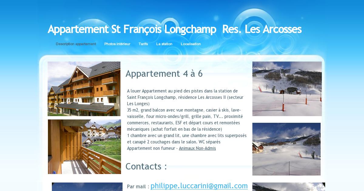 Appartement st fran ois longchamp description appartement - Office de tourisme saint francois longchamp ...